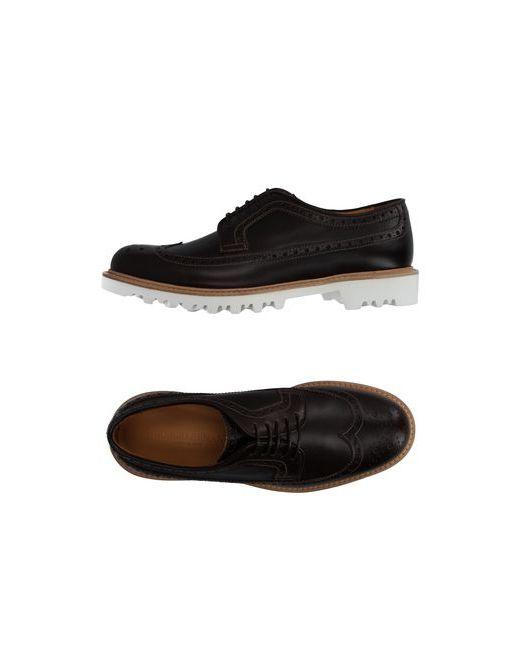 Giorgio Armani   Мужская Коричневая Обувь На Шнурках
