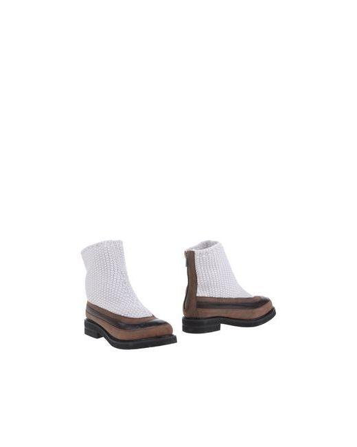 Gentryportofino   Женские Белые Полусапоги И Высокие Ботинки