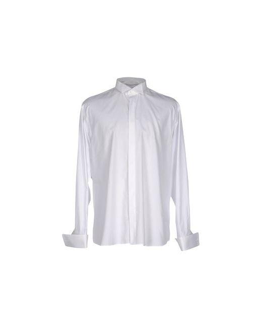 Canali   Мужская Белая Pубашка