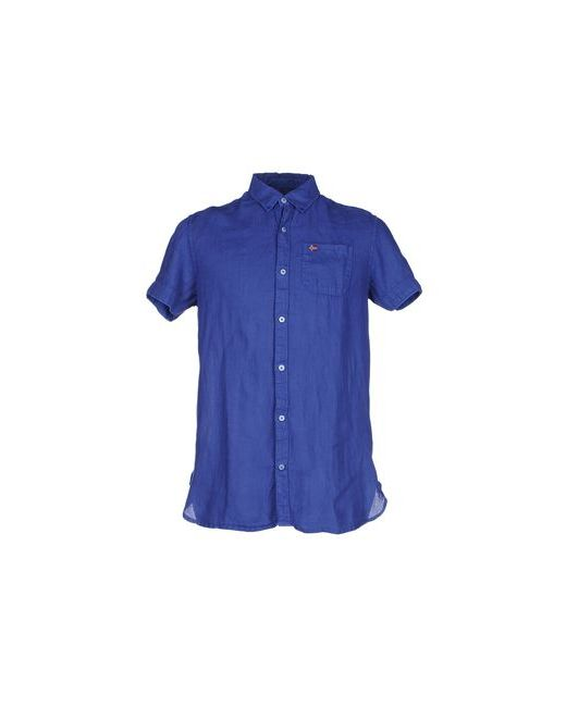 Napapijri | Мужская Синяя Pубашка