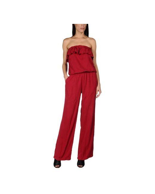 Liu •Jo Jeans | Женские Красные Комбинезоны Без Бретелей