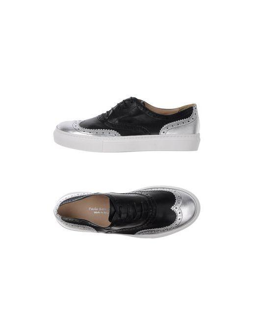 Paolo Simonini   Мужская Чёрная Обувь На Шнурках