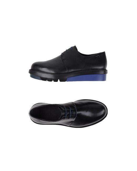 Camper   Мужская Чёрная Обувь На Шнурках
