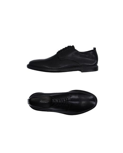 Rocco P.   Мужская Чёрная Обувь На Шнурках