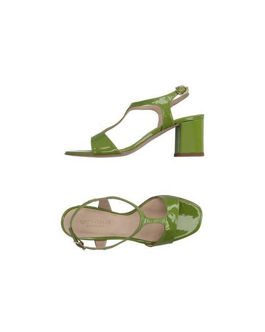 Griff Italia | Женские Зелёные Сандалии
