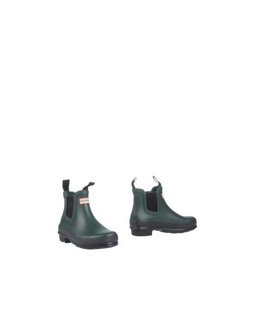 Hunter | Женские Зелёные Полусапоги И Высокие Ботинки
