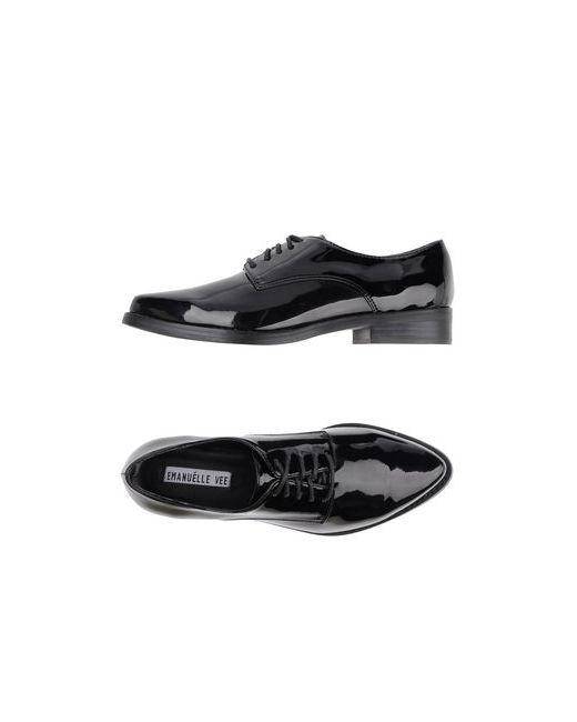 Emanuélle Vee | Мужская Чёрная Обувь На Шнурках