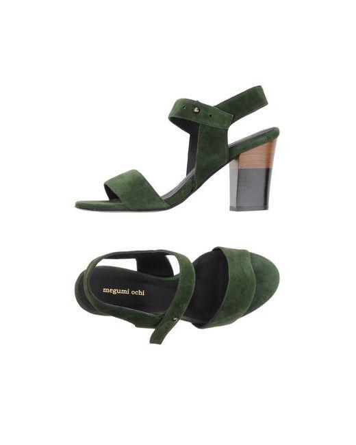 Megumi Ochi | Женские Зелёные Сандалии
