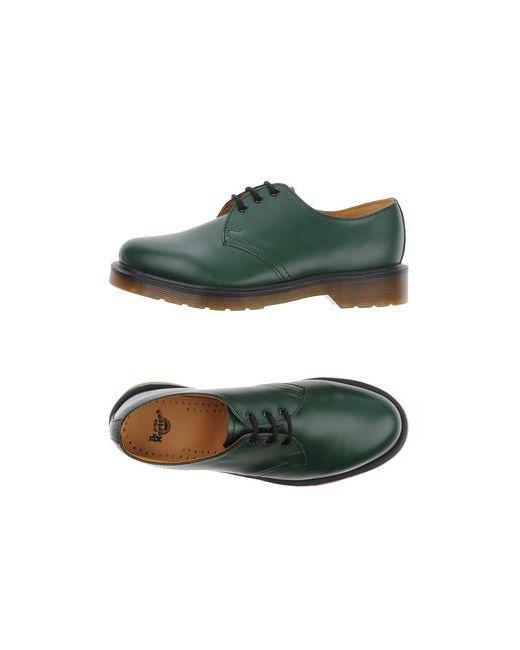 Dr. Martens | Мужская Зелёная Обувь На Шнурках