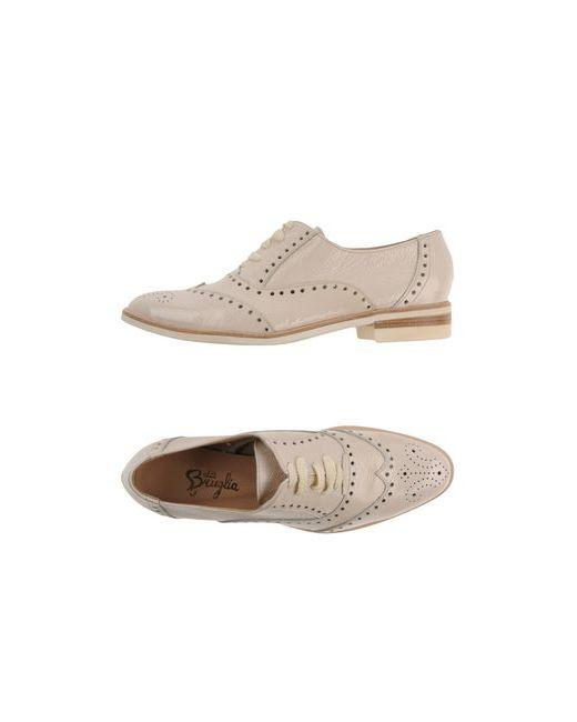 F.LLI BRUGLIA | Мужская Бежевая Обувь На Шнурках