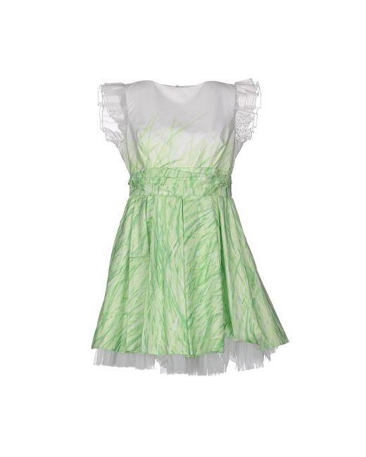 Mangano | Женское Зелёное Короткое Платье