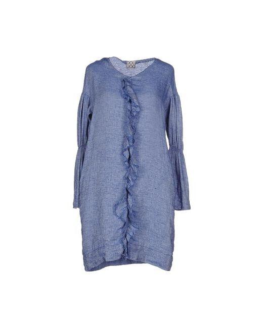 Douuod | Женское Синее Короткое Платье