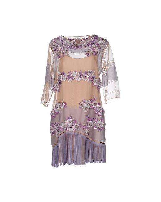 Alberta Ferretti | Женское Розовое Короткое Платье