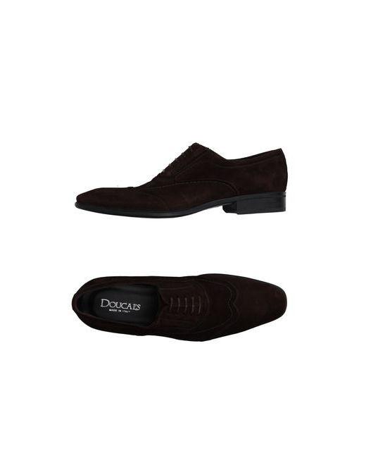 Doucal's   Мужская Коричневая Обувь На Шнурках