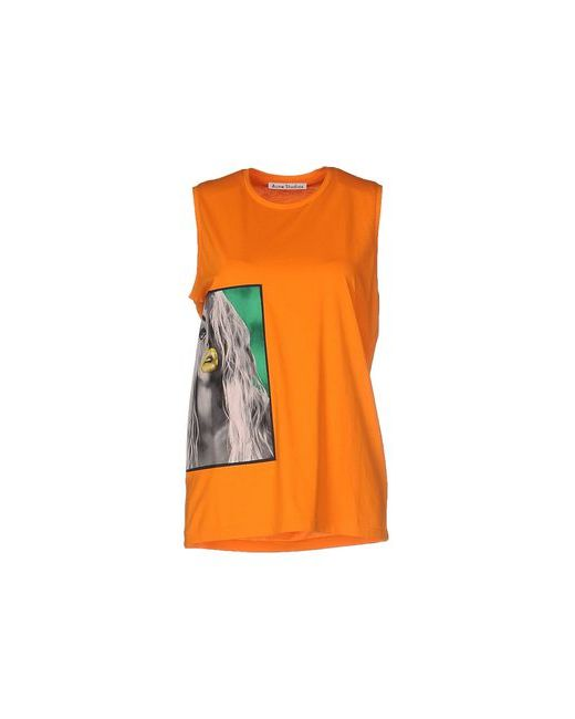 Acne | Женская Оранжевая Футболка