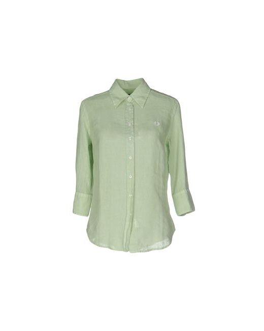 Fred Perry   Мужская Зелёная Pубашка