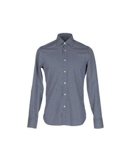 Canali   Мужская Синяя Pубашка