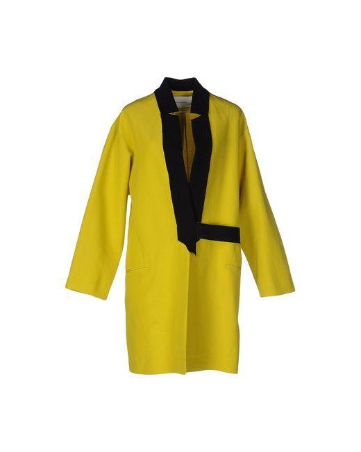 Cedric Charlier | Мужское Жёлтое Легкое Пальто