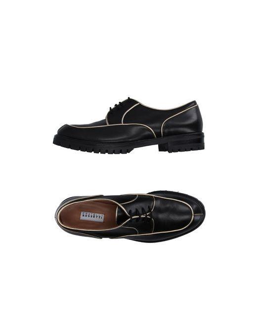 Fratelli Rossetti | Мужская Чёрная Обувь На Шнурках