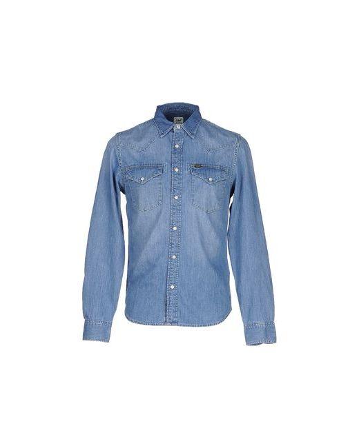 Lee   Мужская Синяя Джинсовая Рубашка