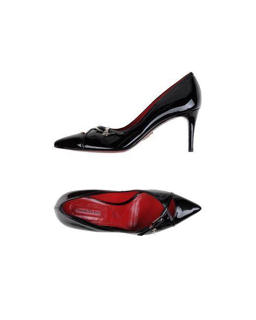 Cesare Paciotti | Женские Чёрные Туфли