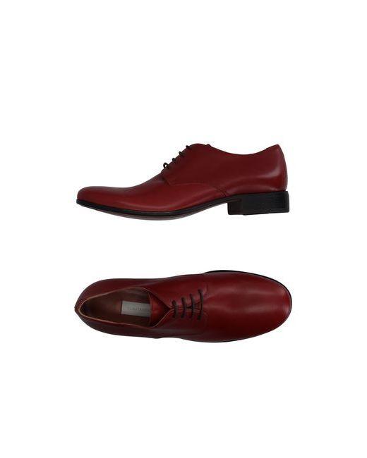 L' Autre Chose | Мужская Красная Обувь На Шнурках