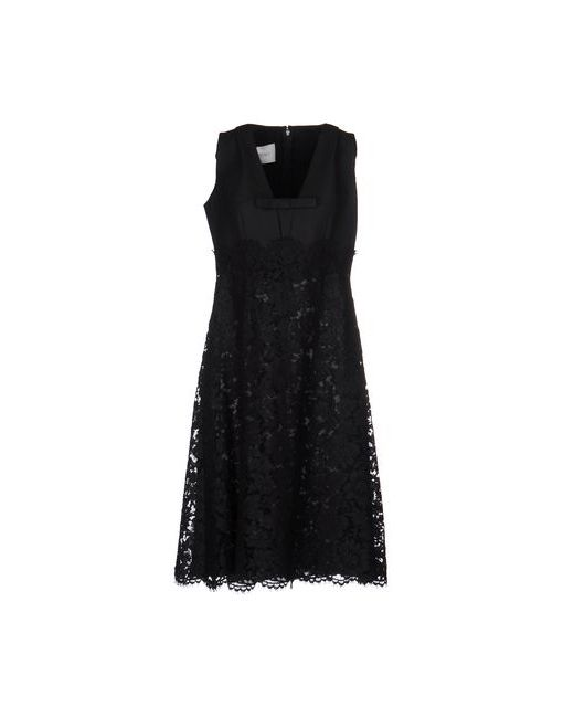 Valentino   Женское Чёрное Платье До Колена