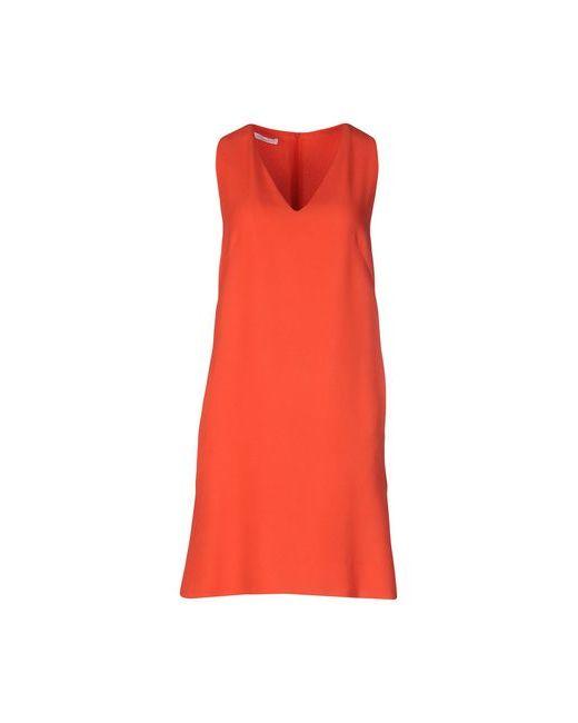Les Copains   Женское Оранжевое Короткое Платье