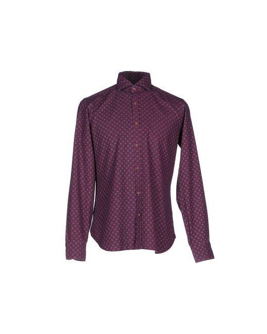 DANDYLIFE BY BARBA   Мужская Фиолетовая Джинсовая Рубашка