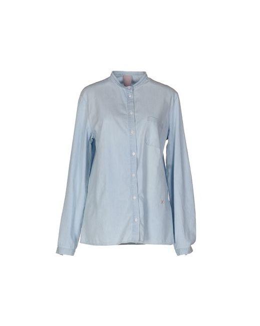(+) People | Мужская Синяя Джинсовая Рубашка