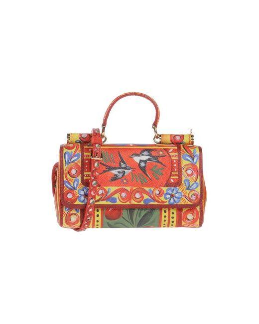 Dolce & Gabbana | Женская Красная Сумка На Руку