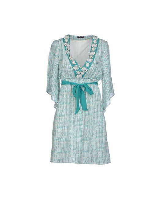 Angelina Folies | Женское Зелёное Короткое Платье