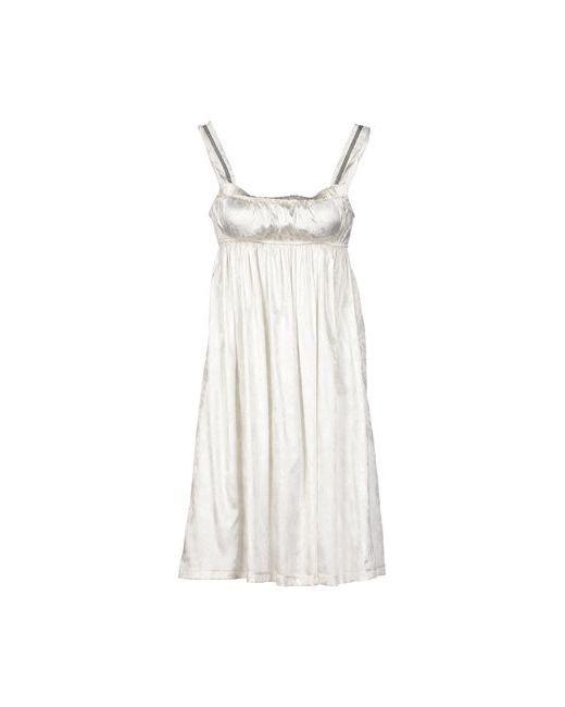 Guerriero   Женское Слоновая Костящее Короткое Платье