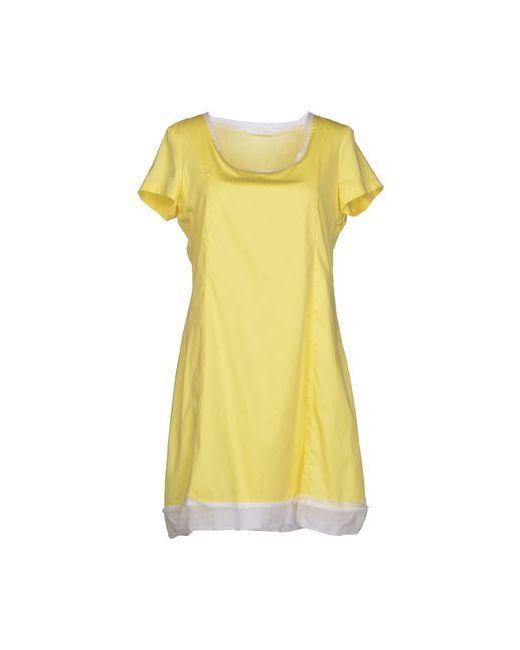 Brebis Noir | Женское Жёлтое Короткое Платье