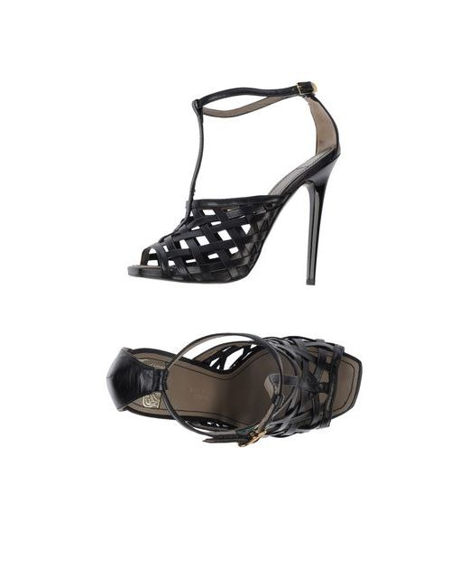 Versace Collection | Женские Чёрные Сандалии