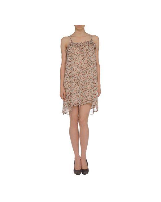 Mariona Gen | Женское Слоновая Костящее Короткое Платье