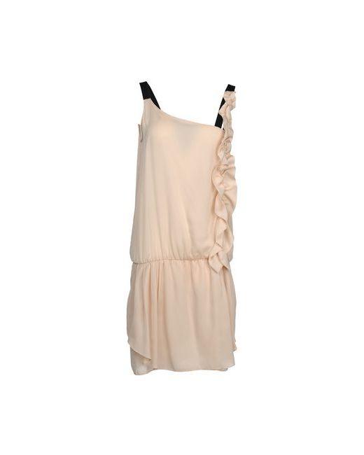 Pinko Grey | Женское Песочное Короткое Платье