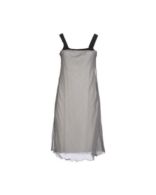 Pianurastudio | Женское Серое Платье До Колена