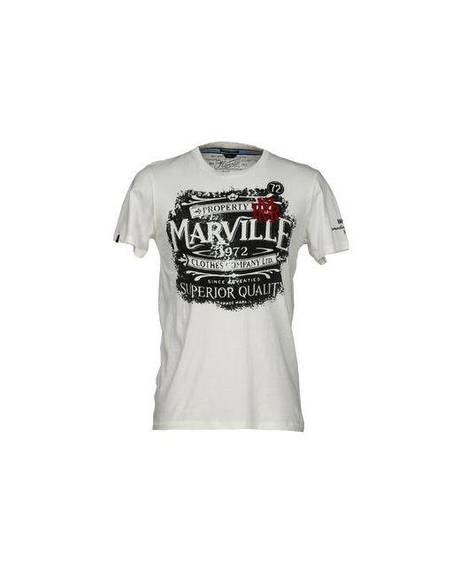 Marville   Мужская Белая Футболка
