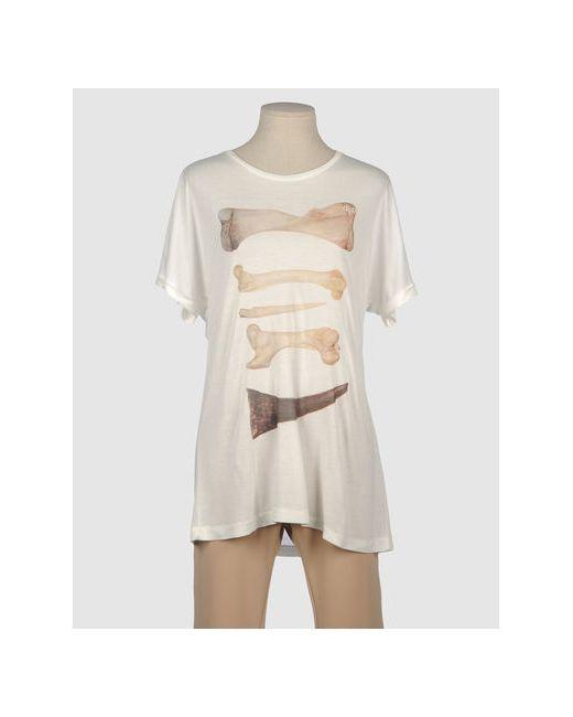 One T Shirt | Женская Слоновая Кость Футболка С Короткими Рукавами