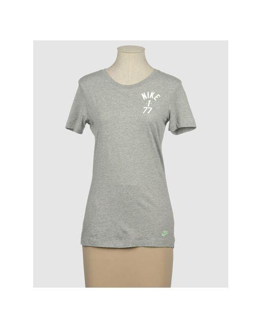 Nike | Женская Серая Футболка С Короткими Рукавами