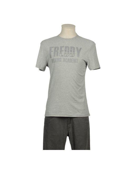 Freddy | Мужская Серая Футболка С Короткими Рукавами