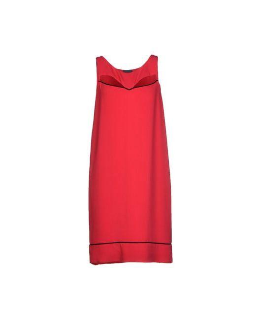 Fendi   Женское Красное Короткое Платье