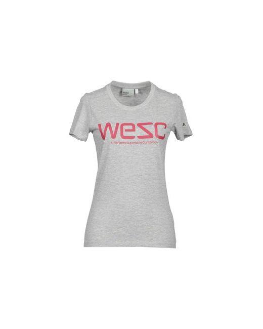 Wesc | Женская Серая Футболка С Короткими Рукавами