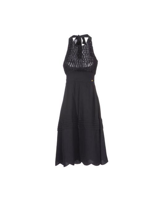 Manoush   Женское Чёрное Платье До Колена