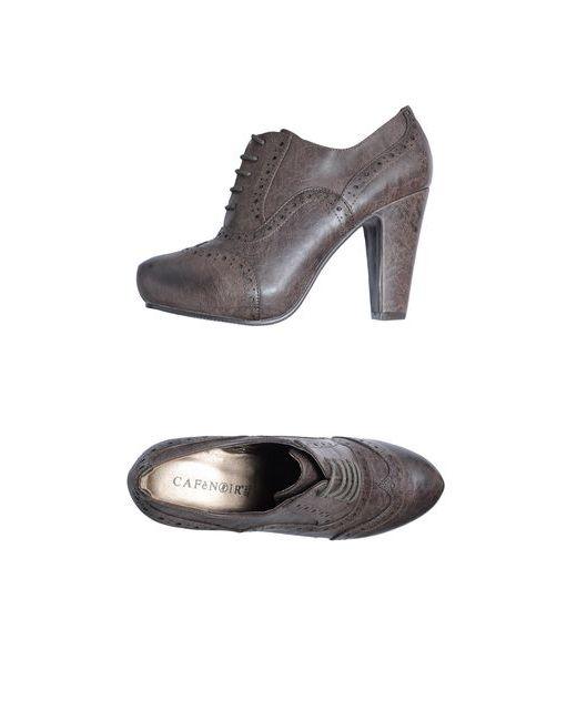 Cafènoir   Женская Коричневая Обувь На Шнурках