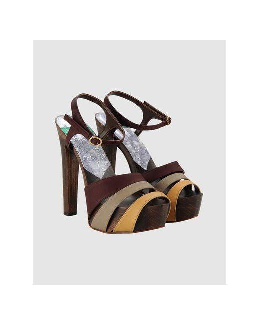 Mink Vegan Shoes   Женские Какао Босоножки На Платформе