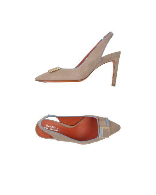 Santoni Rose | Женские Бежевые Туфли