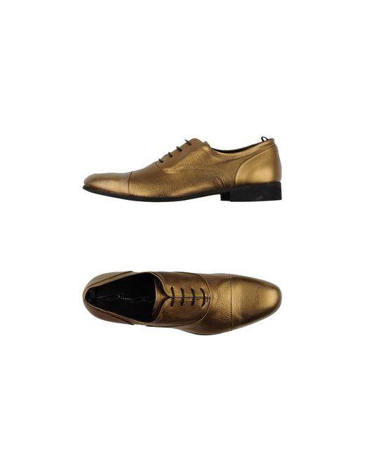 Bruno Bordese | Мужская Золотистая Обувь На Шнурках