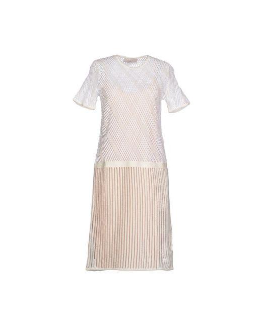 Pringle Of Scotland | Женское Белое Платье До Колена